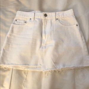 6e12c934c Aritzia Skirts | Tna Testani White Jean Mini Skirt | Poshmark